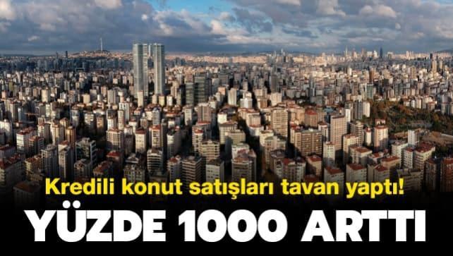 Çevre ve Şehircilik Bakanlığı: Temmuz ayında kredili konut satışı yüzde 1000 arttı