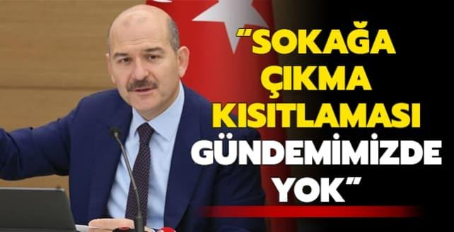 Bakan Soylu'dan sokağa çıkma kısıtlaması açıklaması