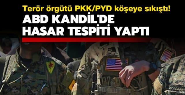 Terör örgütü PKK/PYD köşeye sıkıştı: ABD Kandil'de hasar tespiti yaptı