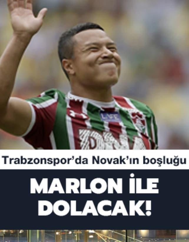 Trabzonspor, Novak'ın boşluğunu Marlon ile dolduruyor
