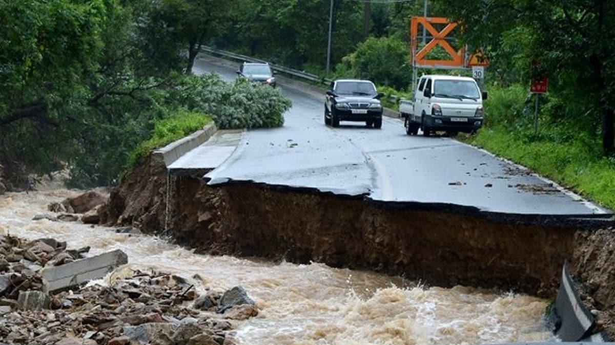 Güney Kore'de şiddetli yağışların yol açtığı sellerde 17 kişi yaşamını yitirdi
