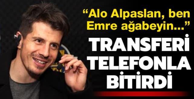 Belözoğlu transferi telefonla bitirdi: Alo ben Emre ağabeyin...