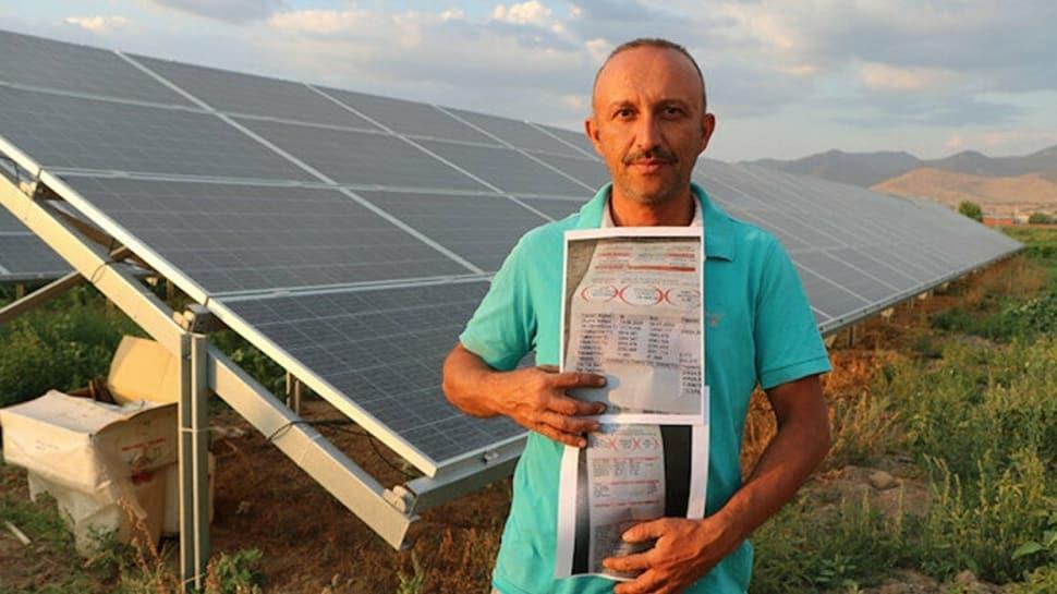 Tarlasına güneş enerji sistemi kurdu, sezonda 50 bin TL tasarruf ediyor