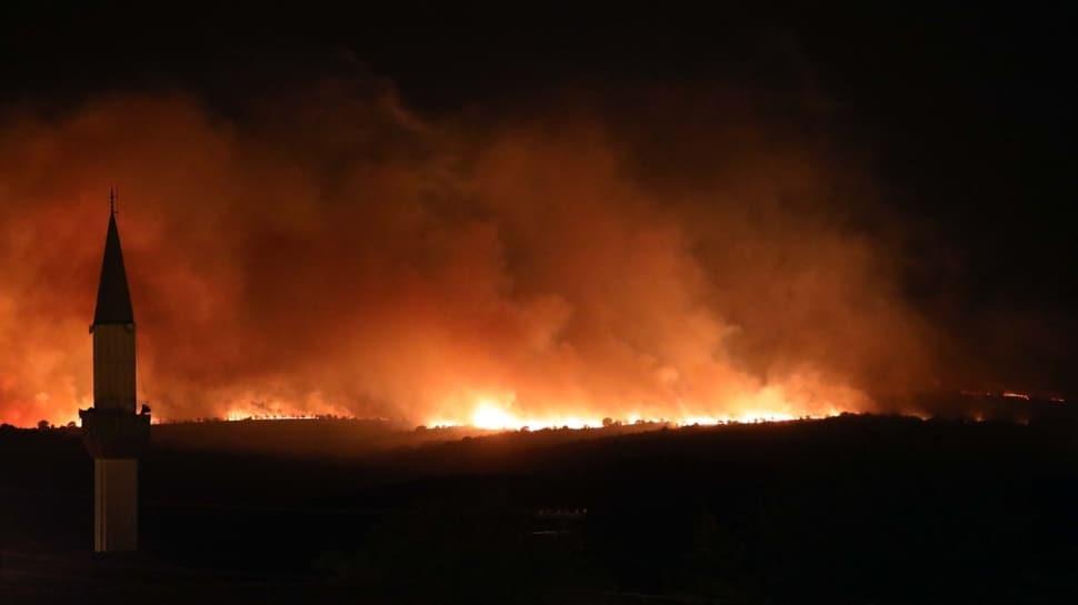 Türkiye sınırına yaklaştı... Bulgaristan'daki orman yangını söndürülemiyor!