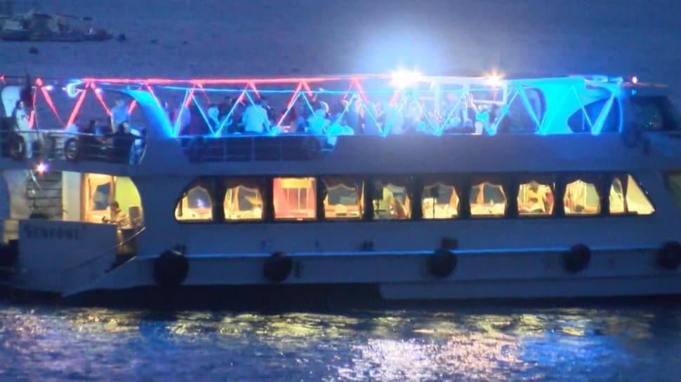 Polis tek tek denetledi... Virüse rağmen teknede eğlence yaptılar