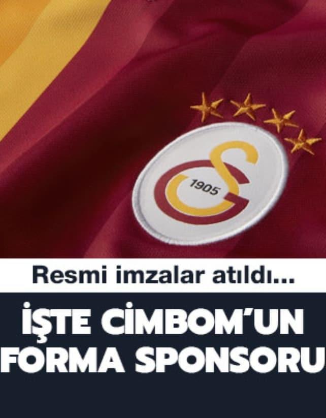Galatasaray'da forma göğüs sponsoru belli oldu