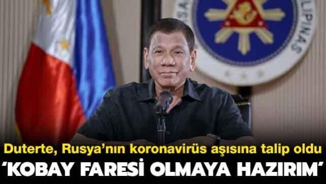 Duterte: Kobay faresi olmaya hazırım