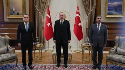 Başkan Erdoğan, Ceyhun Bayramov'u kabul etti