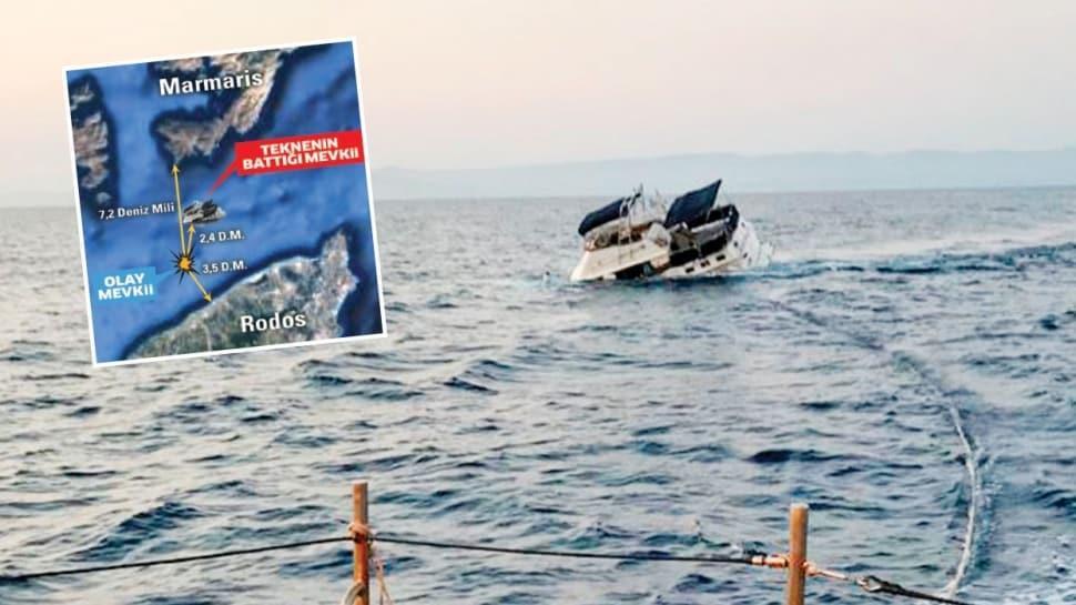 Yunan'ın gücü tekneye yetti
