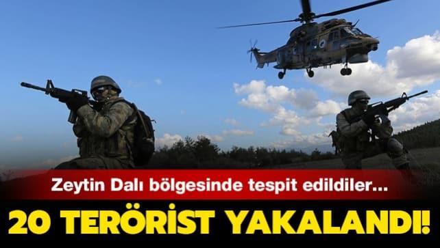 MSB duyurdu... Zeytin Dalı bölgesinde 20 PKK/YPG'li terörist gözaltına alındı