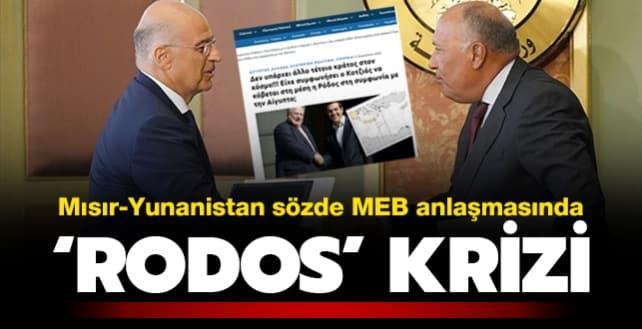Mısır - Yunanistan sözde MEB anlaşmasında 'Rodos' krizi