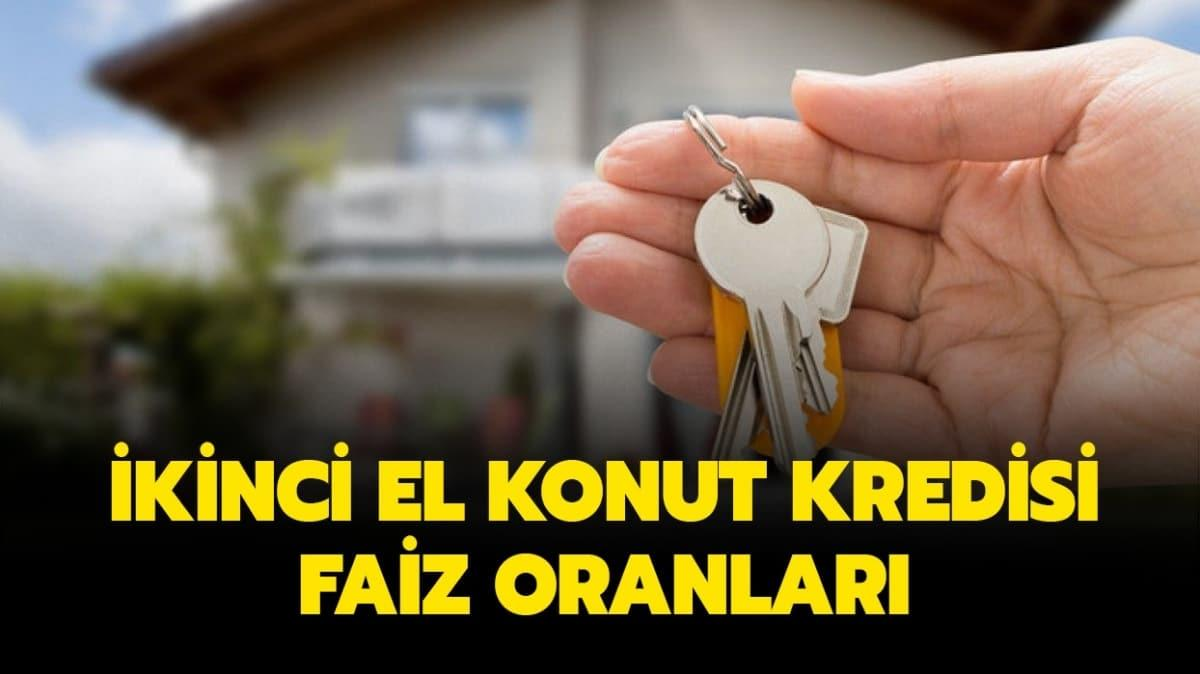"""Halkbank, Ziraat, Vakıfbank ikinci el konut kredisi faiz oranları 2020 ne kadar"""""""