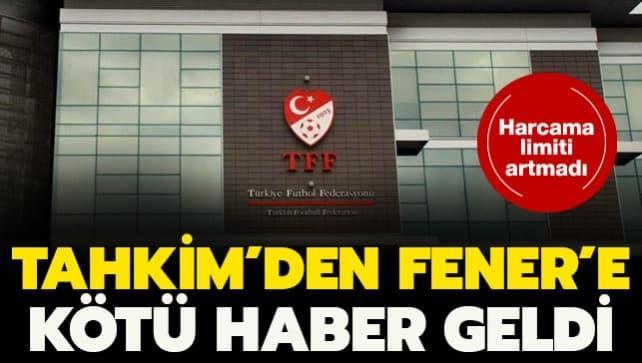 TFF'den Fenerbahçe'ye ret kararı