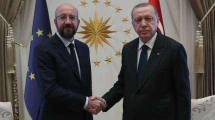 Başkan Erdoğan Charles Michel ile görüştü