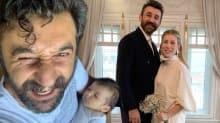 Necip Memili bebeğiyle ilk kez dışarıda: Kız babası olmak çok keyifli!