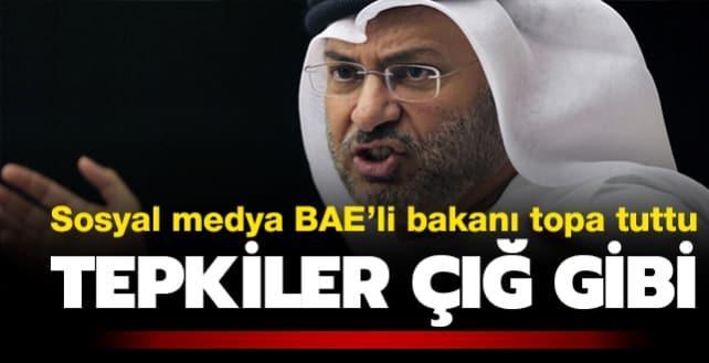 Sosyal medya BAE'li bakanı topa tuttu