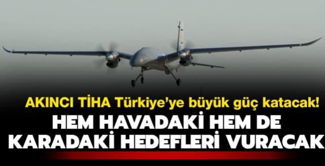 Bayraktar AKINCI TİHA savaş uçaklarının yükünü almaya hazırlanıyor