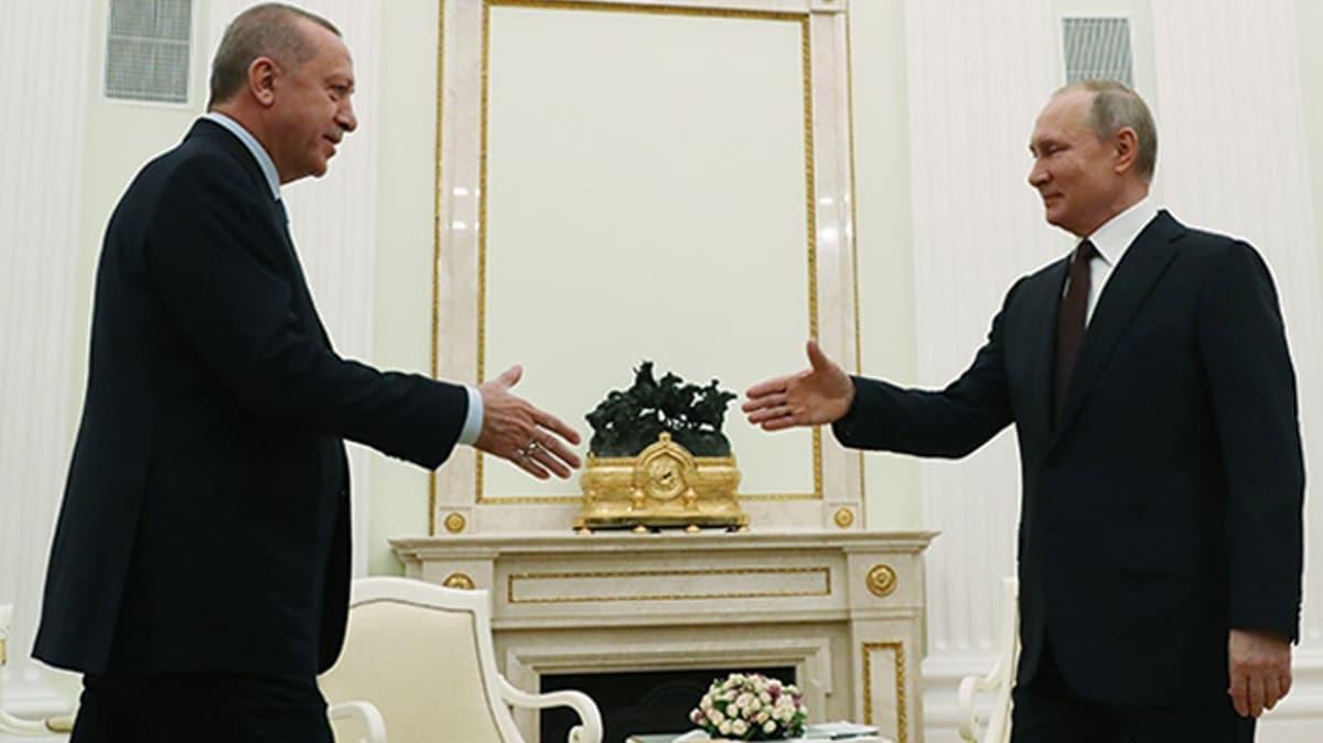 Başkan Erdoğan Rusya lideri Putin ile görüştü