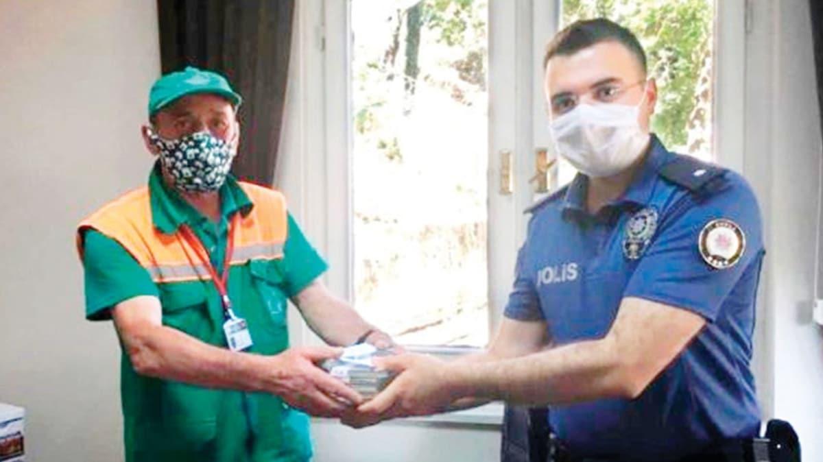 Temizlik işçisi çöpte 110 bin lira buldu! Hemen polise teslim etti