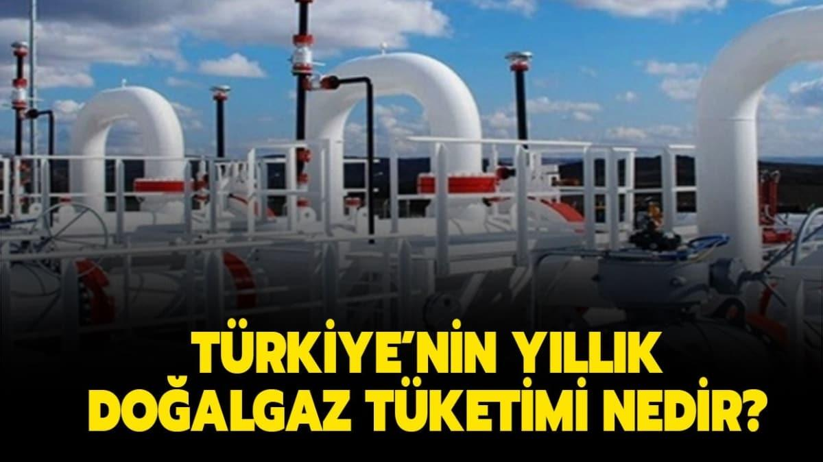 """Türkiye yılda kaç metreküp doğalgaz tüketiyor"""" Türkiye'nin yıllık doğalgaz tüketimi ne kadar"""""""