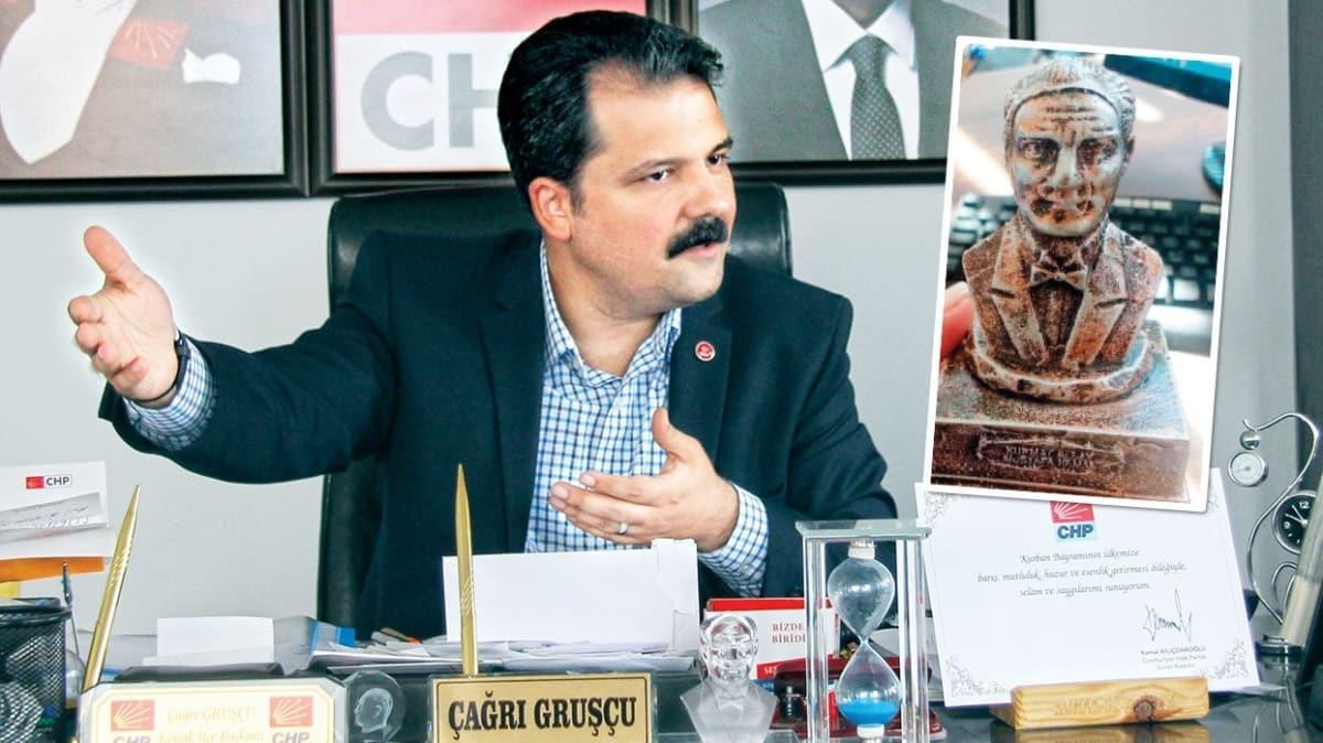 CHP'den büst skandalı! Ata'yı da kendilerine benzettiler