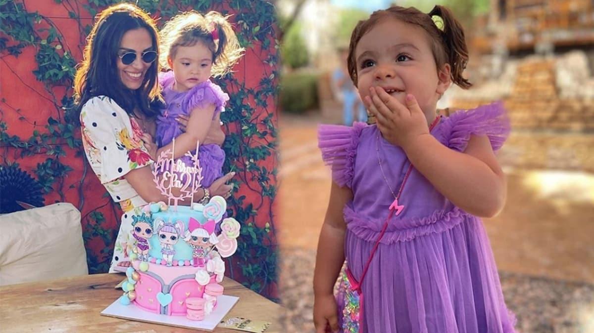 Şükran Ovalı ve Caner Erkin'den kızları Mihran Ela'ya 2. yaş günü kutlaması