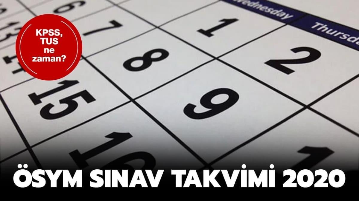 """ÖSYM güncel sınav takvimi 2020: KPSS, TUS, YDS sınavları ne zaman yapılacak"""""""