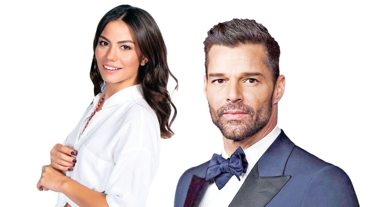 Ricky Martin, Demet Özdemir'i takibe aldı