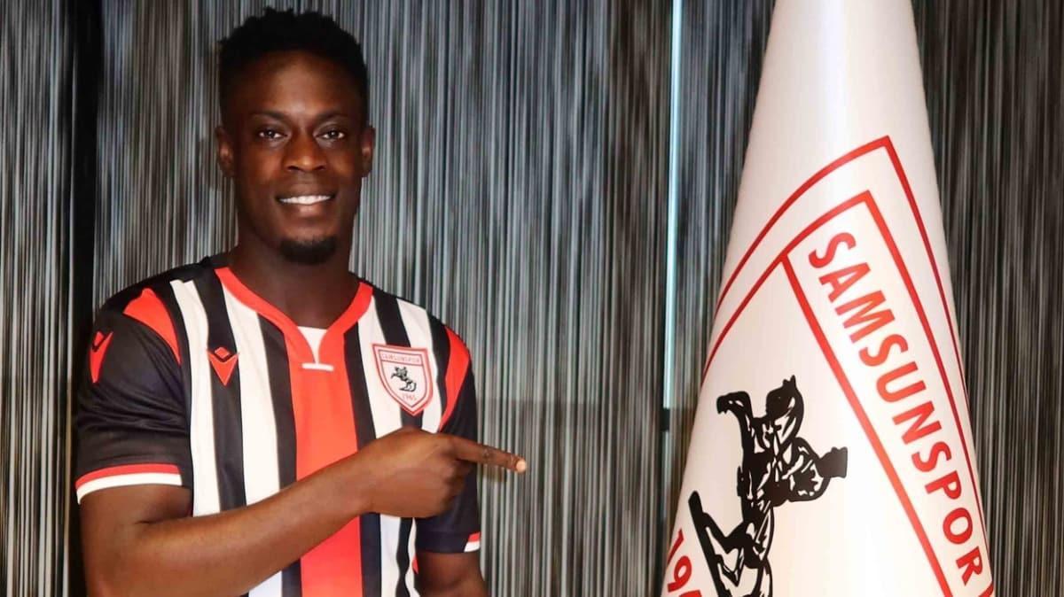 Samsunspor, Beşiktaş'ın da istediği Edwin Gyasi'yi transfer etti