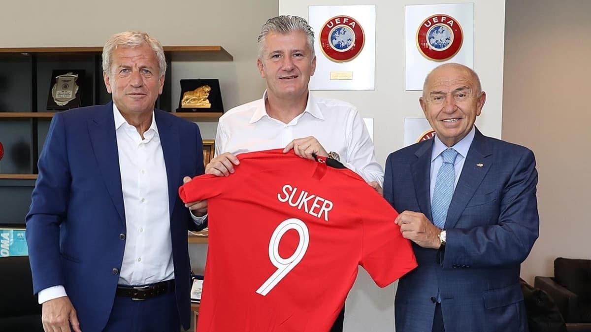 Davor Suker, mevkidaşı Nihat Özdemir'i ziyaret etti