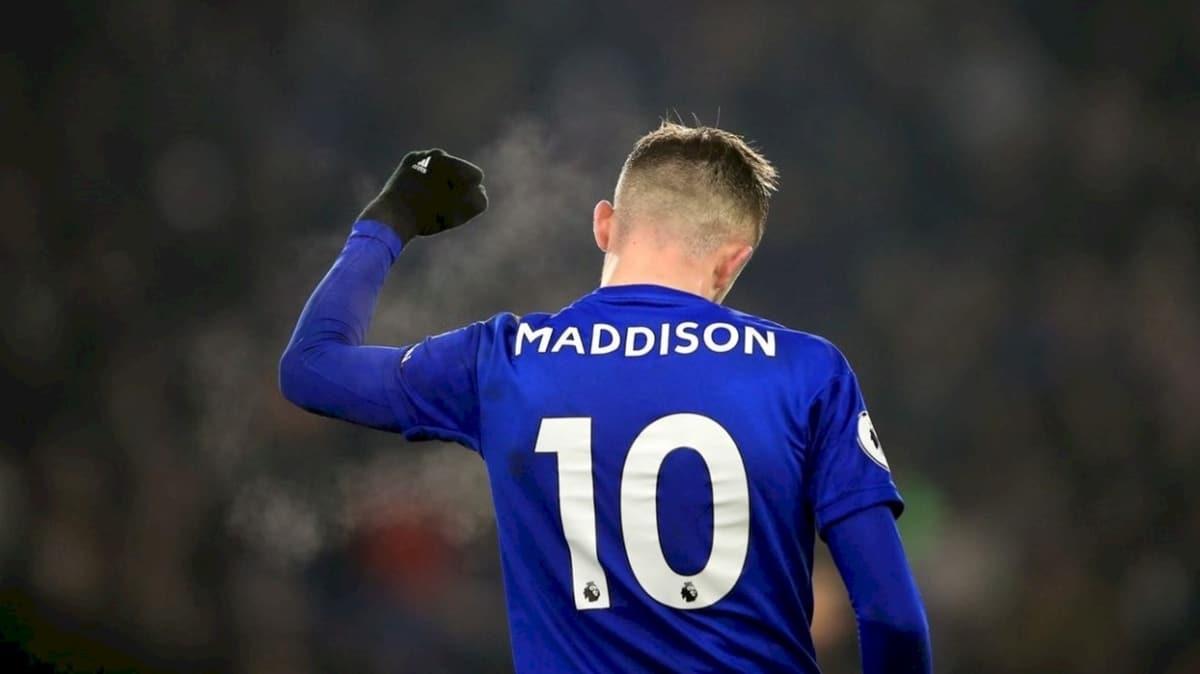 Leicester'ın 10 numarası James Maddison, kulübünde kaldı