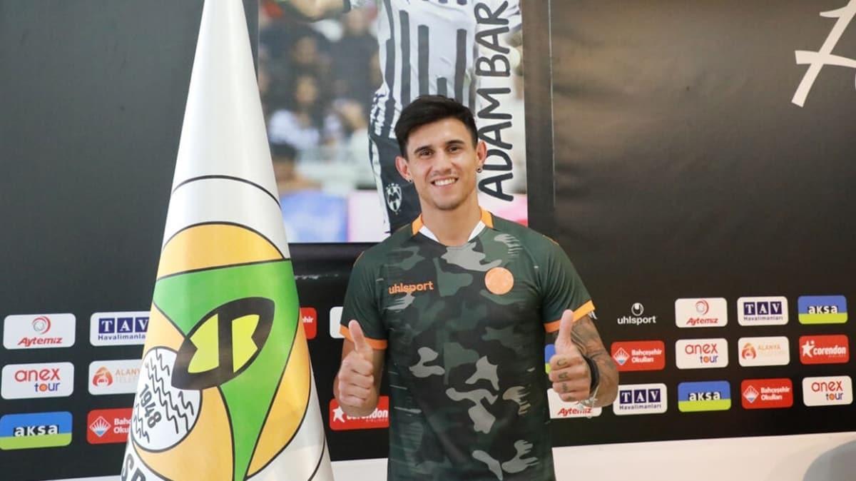 Aytemiz Alanyaspor, Paraguaylı golcü Adam Bareiro'yu 1 yıllığına kiraladı