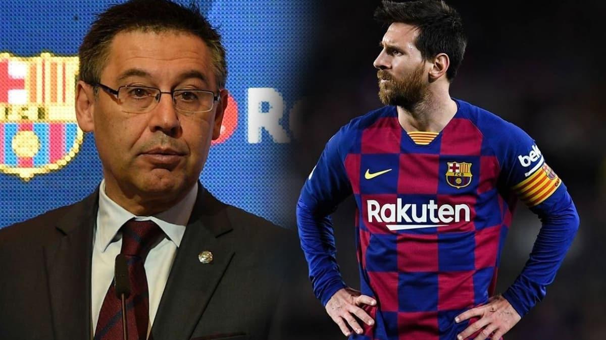 Barcelona'da Messi isyanı: 'Başkan Bartomeu istifa kararı aldı' iddiası