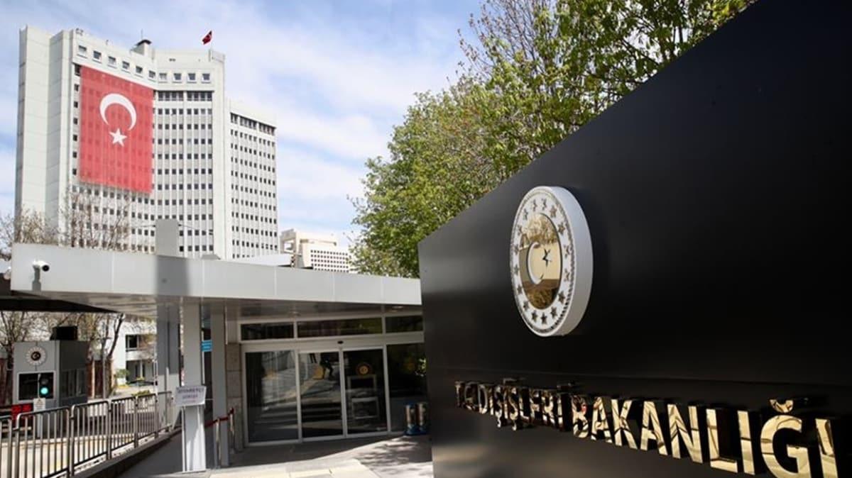 ABD'nin, Cumhurbaşkanı Erdoğan'ın Hamas yetkililerini kabulüne ilişkin açıklamasına Dışişleri Bakanlığından tepki