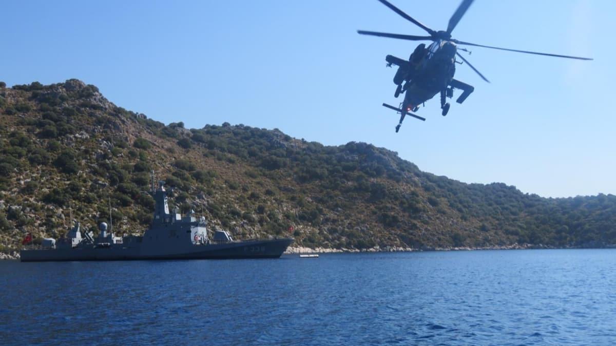MSB duyurdu... Ege ve Akdeniz'de taarruz helikopteri ile eğitimler icra edildi