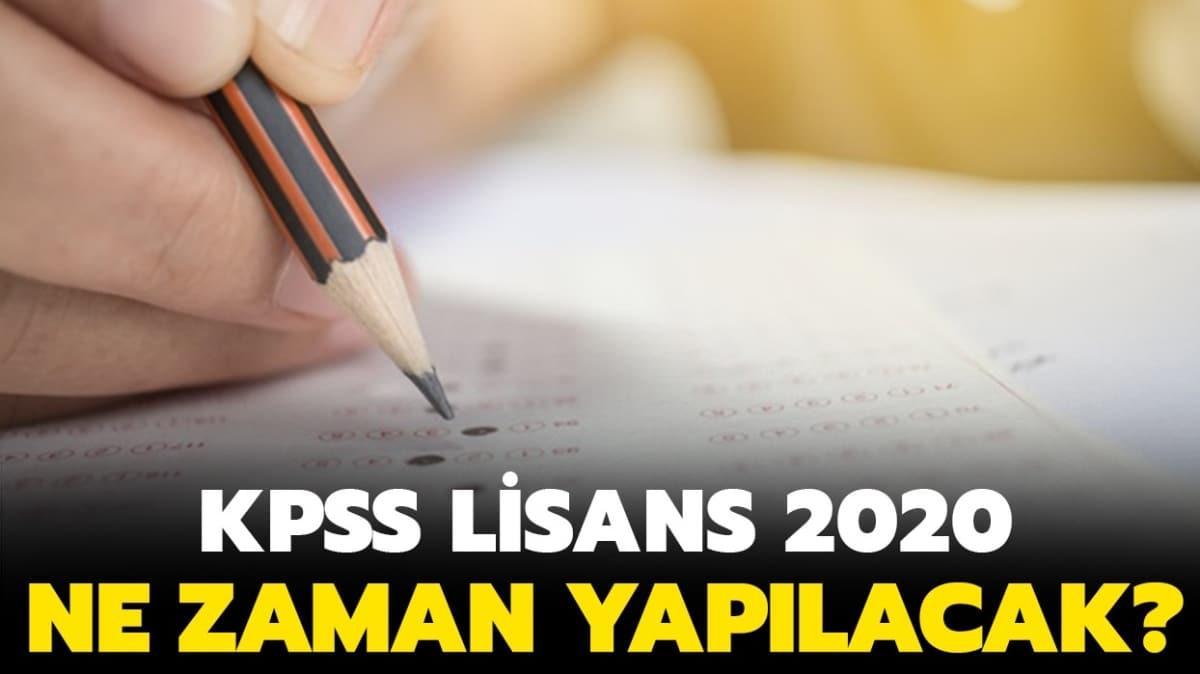 "KPSS lisans 2020 ne zaman yapılacak"" KPSS lisans hangi gün, saat kaçta"""