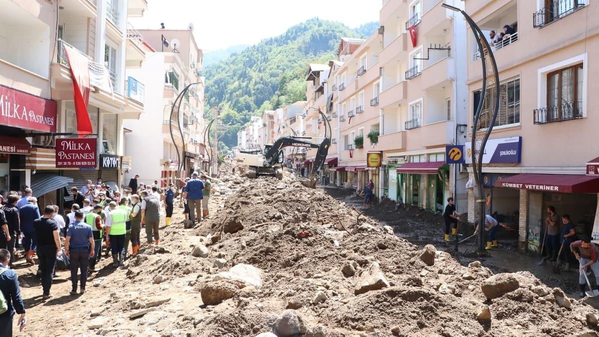 Giresun'da sel felaketi sonrası mağdurların GSM faturaları bir ay erteleniyor