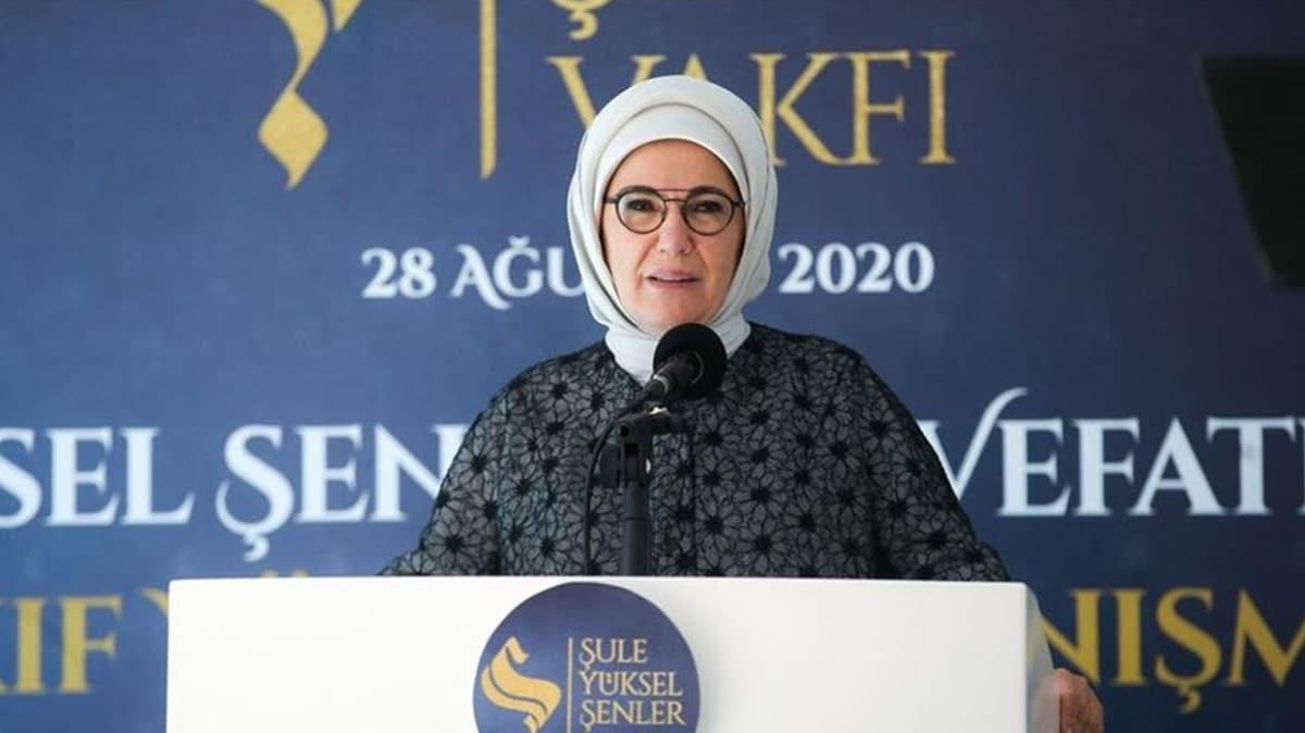 Emine Erdoğan: Şule Yüksel hanım da mutlaka uluslararası tanınırlığa kavuşmalı