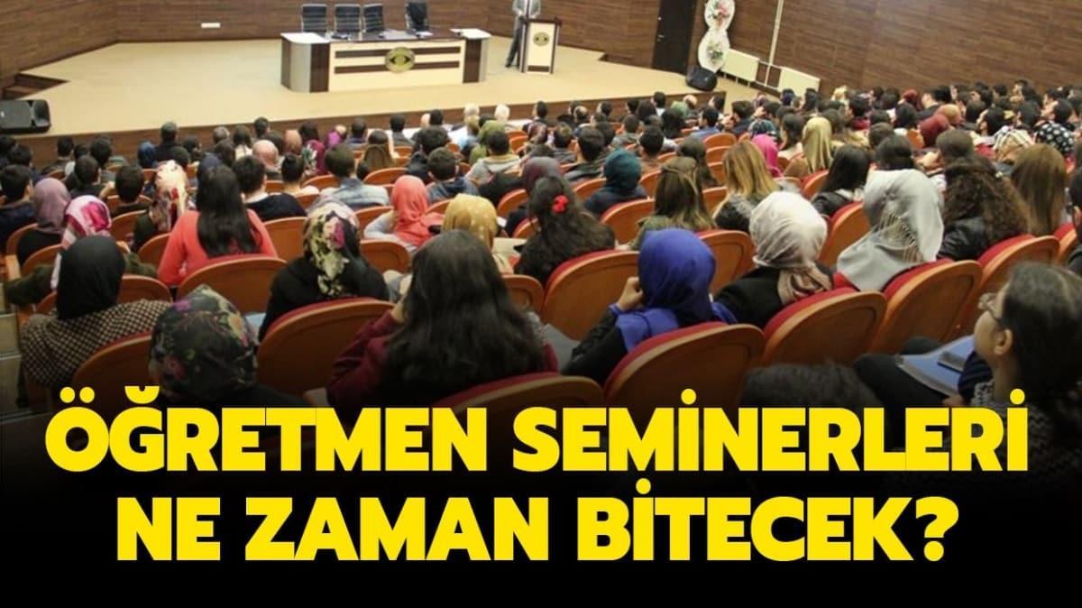 """Öğretmen seminerleri ne zaman bitecek"""" Online olacak mı"""""""