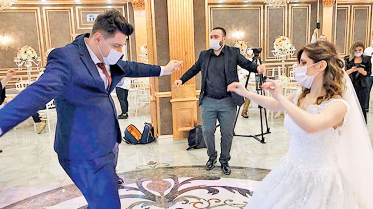 Düğünlerde sadece gelin ve damat oynayacak