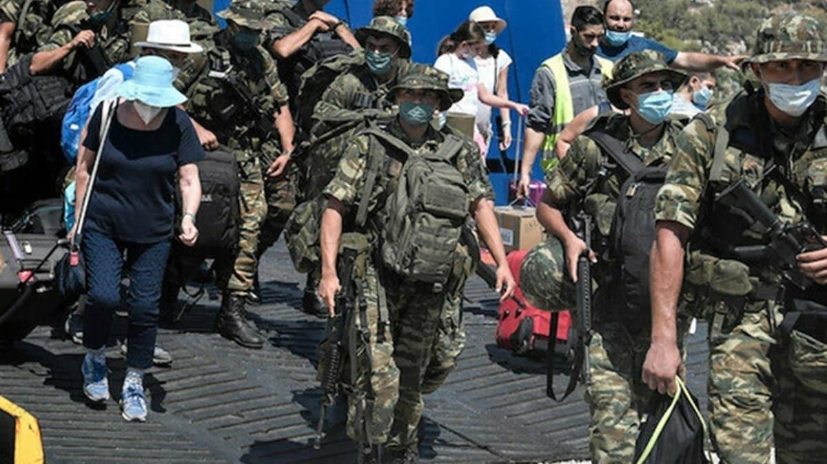 Yunanistan'dan yeni provokasyon: Meis adasına asker konuşlandırdılar