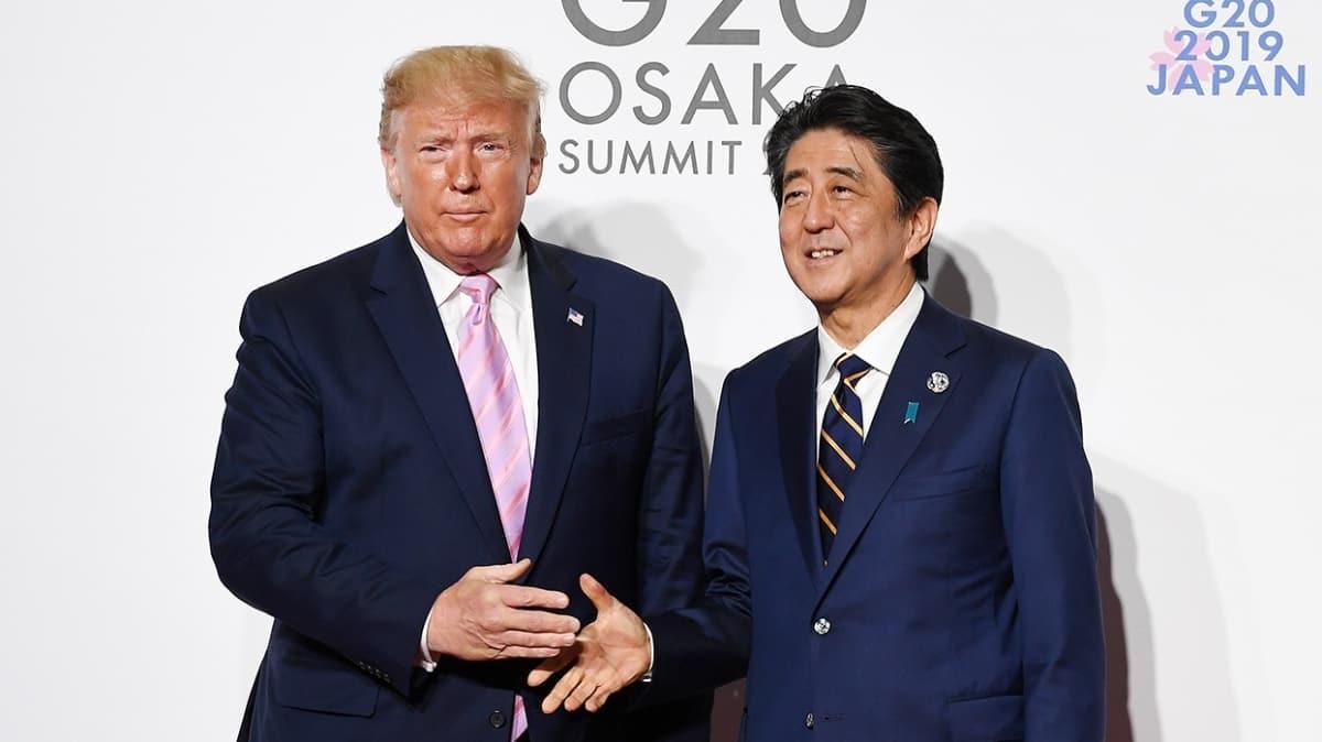 Japonya Başbakanı Abe, ABD Başkanı Trump ile istifa kararı sonrası görüştü