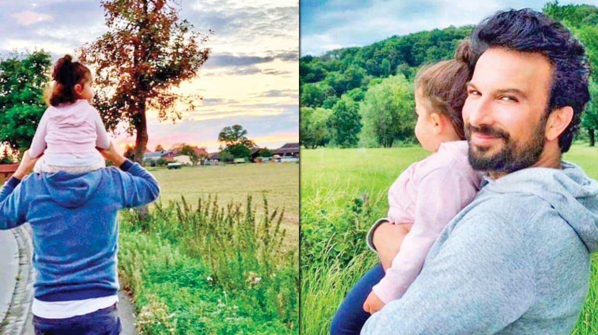Tarkan kızı Liya ile doğa yürüyüşünde