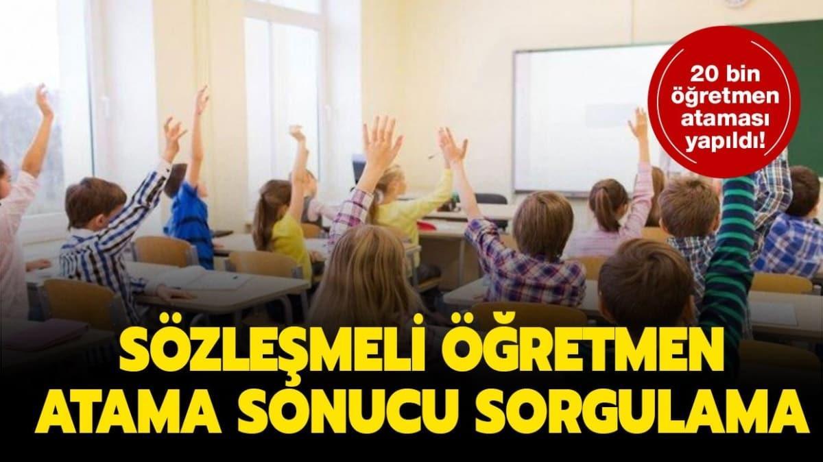 """Sözleşmeli öğretmenlik atama sonuçları nereden sorgulanır"""" E-devlet sözleşmeli öğretmen atama sonuç sorgulama ekranı"""