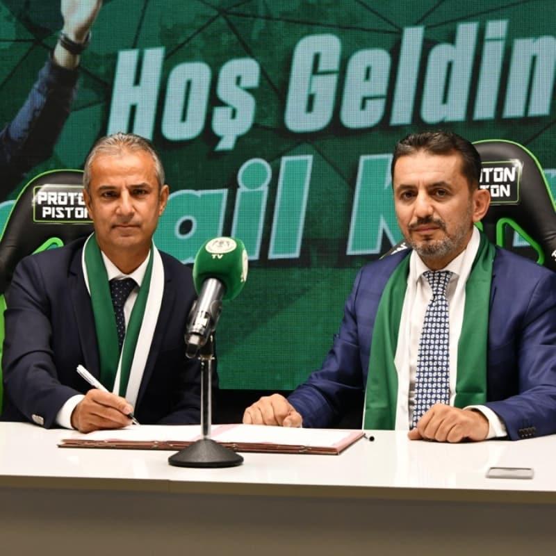 Teknik direktör İsmail Kartal, Konyaspor ile 2 yıllık sözleşme imzaladı