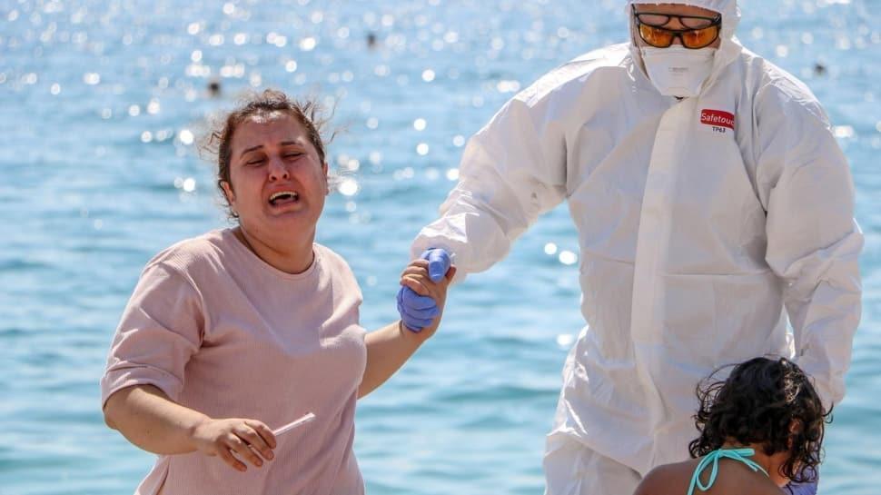 Ev karantinasını delip sahile gelen kadın, ortalık birbirine katmıştı! Psikolojik tedavi görecek