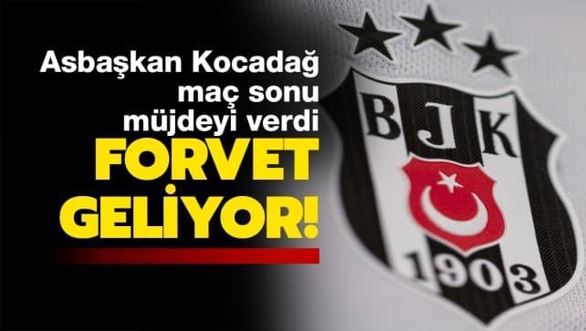 Beşiktaşlılara müjdeyi verdi: Forvet geliyor