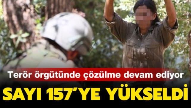Terör örgütünde çözülme devam ediyor! 3 PKK'lı terörist ikna yoluyla teslim oldu