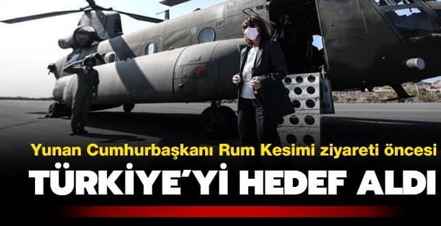 Sakellaropulu Türkiye'yi hedef aldı
