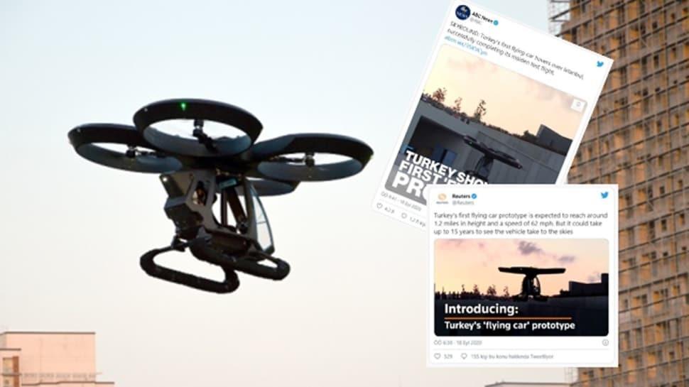 Türkiye'nin ilk uçan arabası Cezeri dünya basınında manşet oldu